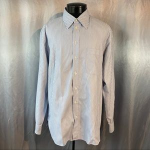 Giorgio Armani men's striped dress shirt